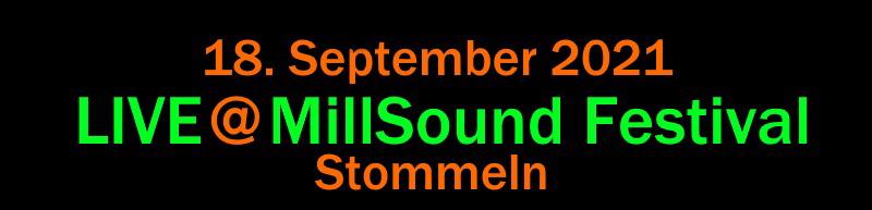 MillSound Festival September 2021 Terminbanner